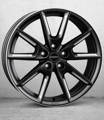 LX18 black matt silver Spoke Rim