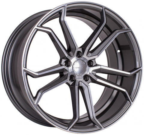 Advance Wheels AV3 gunmetal Frontpoliert