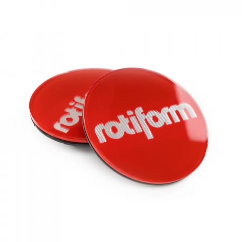 Rotiform Emblem für Zentralverschluss rot/silber