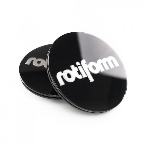 Rotiform Emblem für Zentralverschluss schwarz/silber