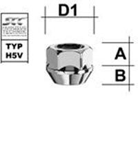 M12x1,25 Kegel Länge: 16,5mm Sitz: 60